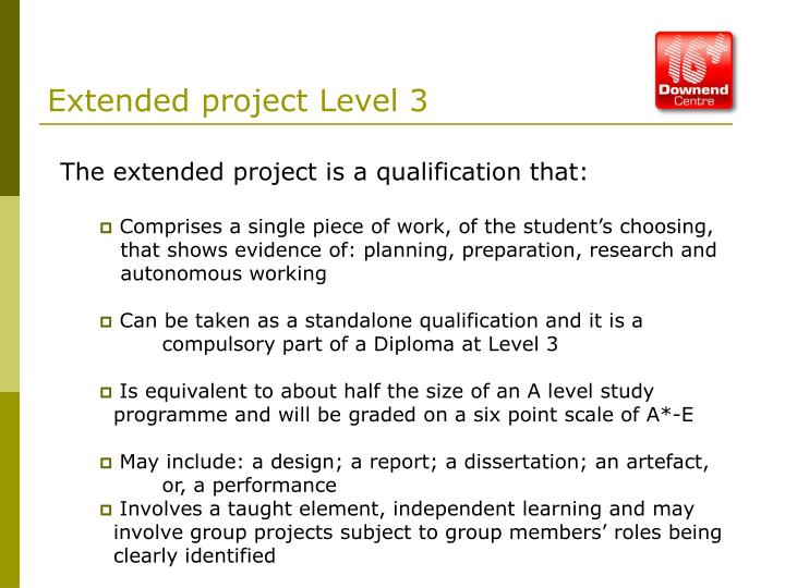 Extended project Level 3