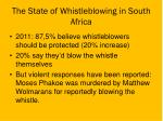 the state of whistleblowing in south africa