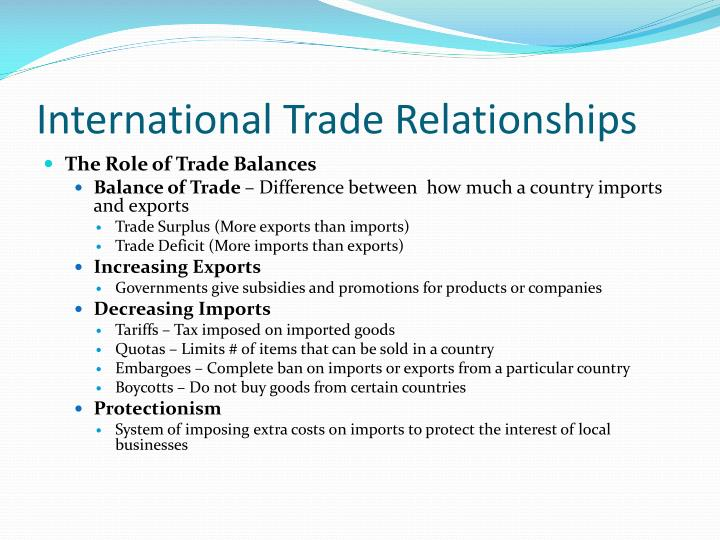 international trade relations Ii six decades of multilateral trade cooperation: what have we learnt b the economics and political economy of international trade cooperation.