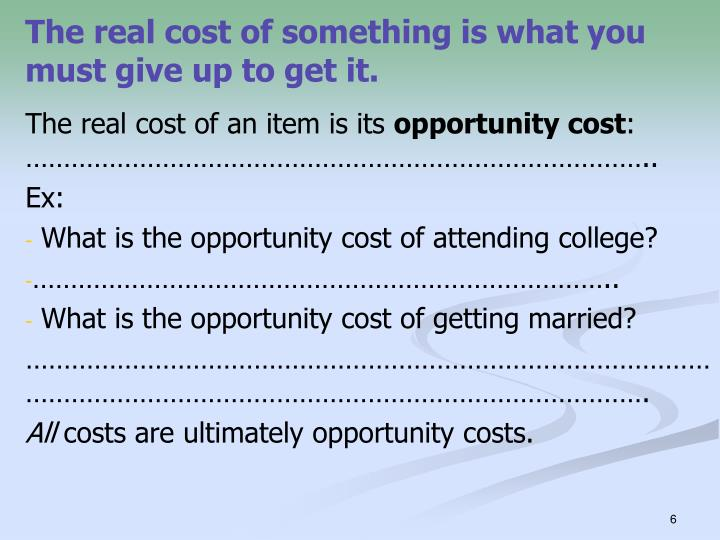 what are the opportunity costs of getting your degree A bachelor's degree, also known as a baccalaureate degree  cost of a bachelor's degree the cost of a bachelor's degree depends on several factors such as:.