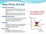 how prices are set