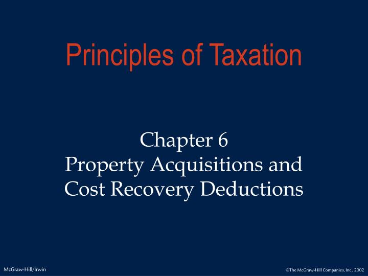 PPT Principles Of Taxation PowerPoint Presentation ID