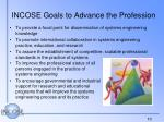 incose goals to advance the profession