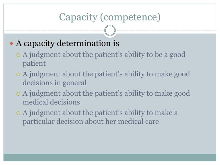 Capacity (competence)