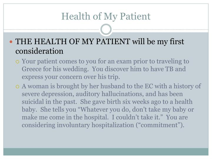Health of My Patient