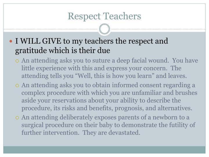 Respect Teachers