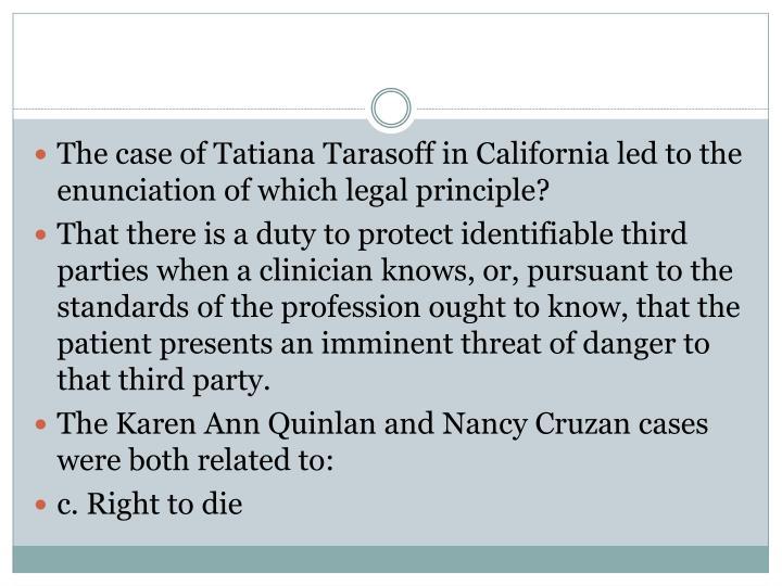 The case of Tatiana