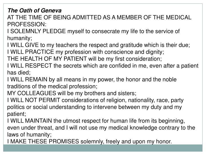 The Oath of Geneva