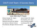 cauti unit team a success story