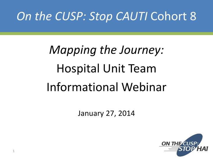 on the cusp stop cauti cohort 8 n.