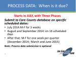 process data when is it due