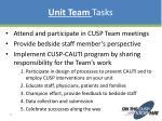 unit team tasks