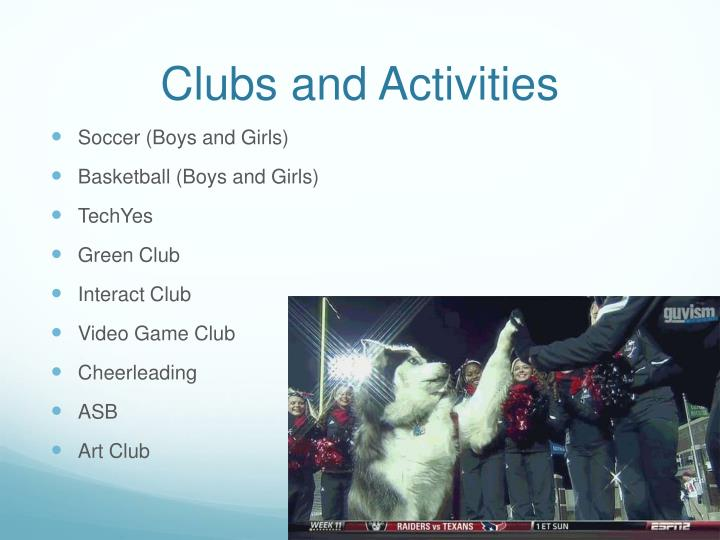 Clubs and Activities