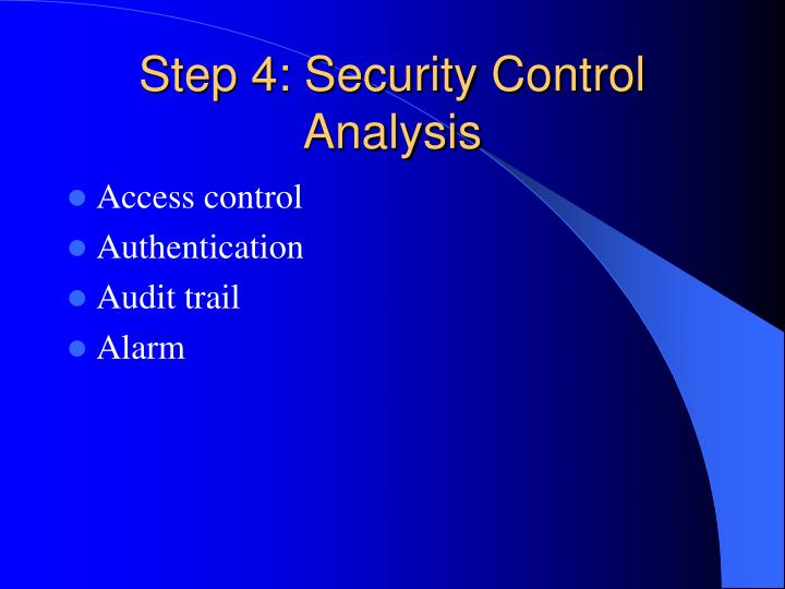 Step 4: Security Control Analysis