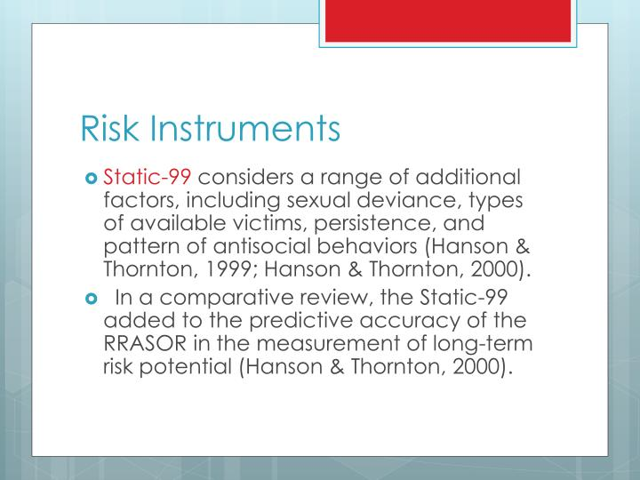 Risk Instruments