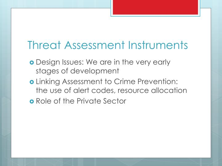 Threat Assessment Instruments