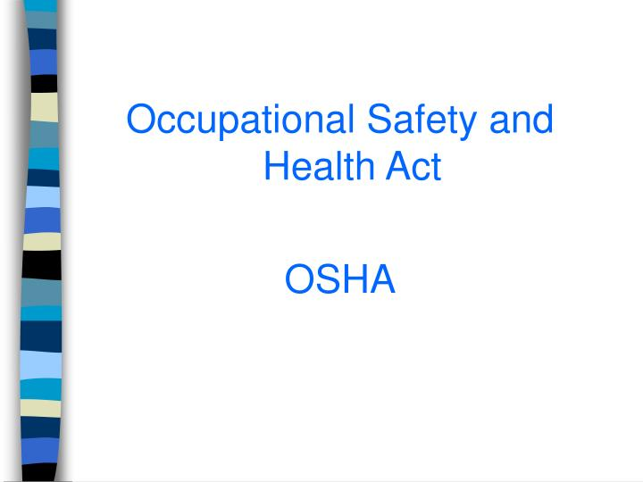 purpose of a health and safety About the commission the occupational safety and health review commission is an independent federal agency, providing administrative trial and appellate review, created to decide contests of citations or penalties resulting from osha inspections of.