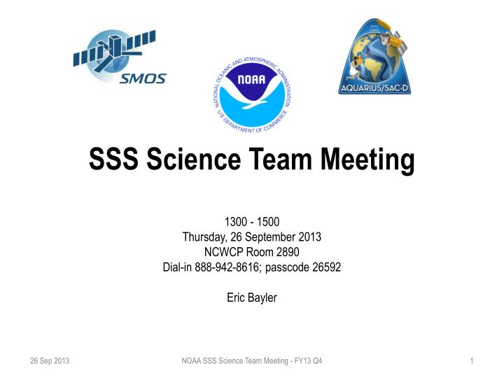 Sss science team meeting