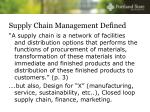 supply chain management defined