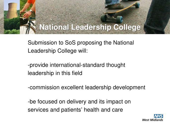 National leadership college