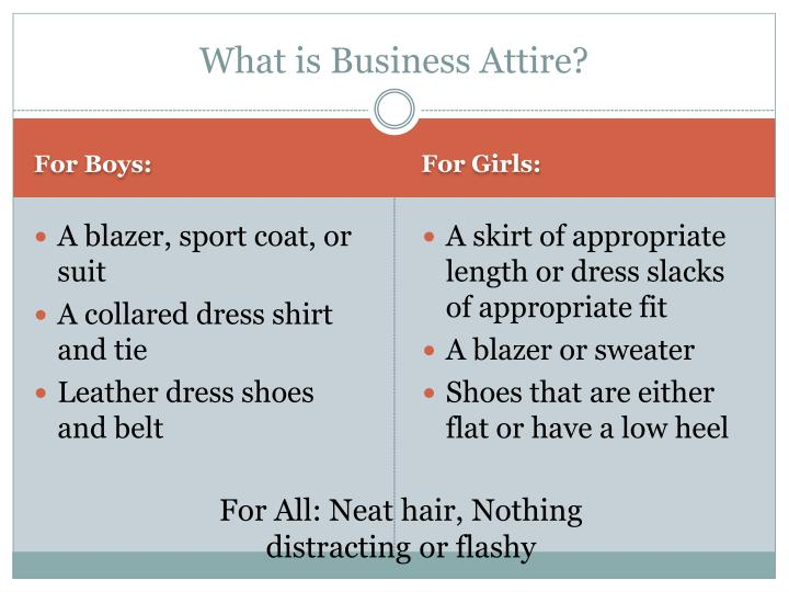 What is business attire
