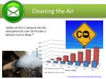 cleaning the air
