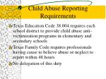 child abuse reporting requirements