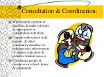 consultation coordination