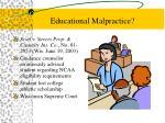 educational malpractice