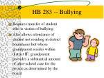 hb 283 bullying