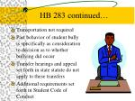 hb 283 continued