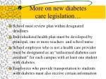 more on new diabetes care legislation