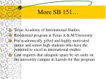 more sb 151