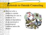 referrals to outside counseling