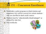 sb 151 concurrent enrollment