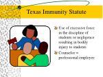 texas immunity statute