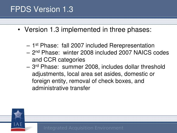 Federal Procurement Data System : Ppt federal procurement data system fpds version