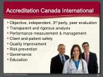 accreditation canada international