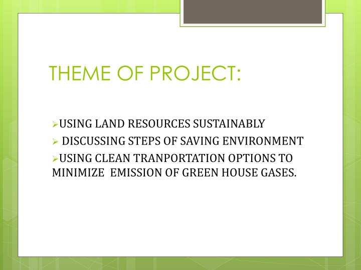 Theme of project