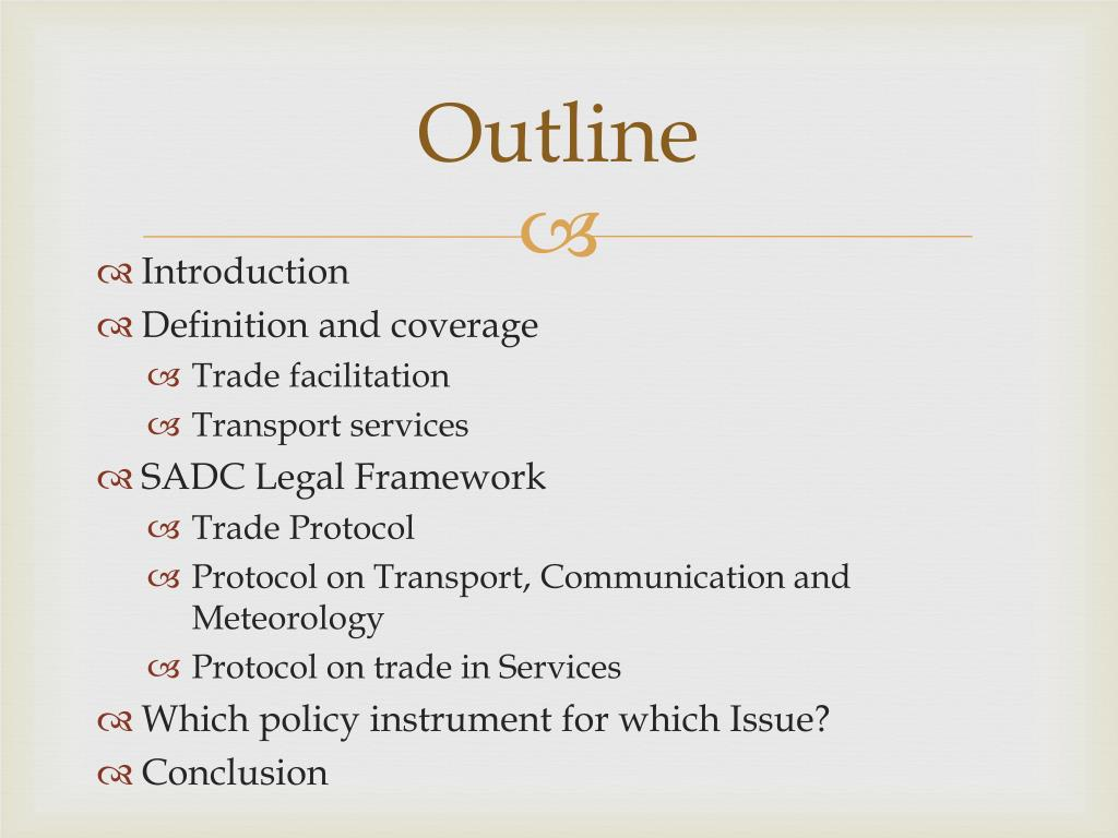PPT - Transport Services Liberalisation and Trade