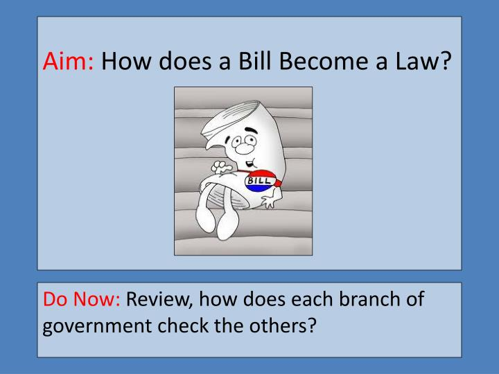 aim how does a bill become a law n.