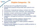 eligible categories ta