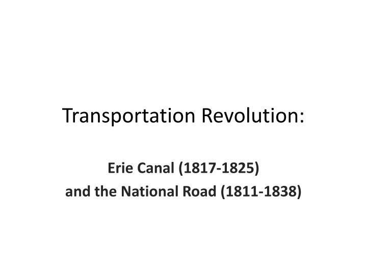 what was the transportation revolution why was China is in the midst of a transportation revolution, one that started with a shift from ubiquitous bicycles to ubiquitous automobiles—with attendant impacts on lifestyle, sprawl and pollution.