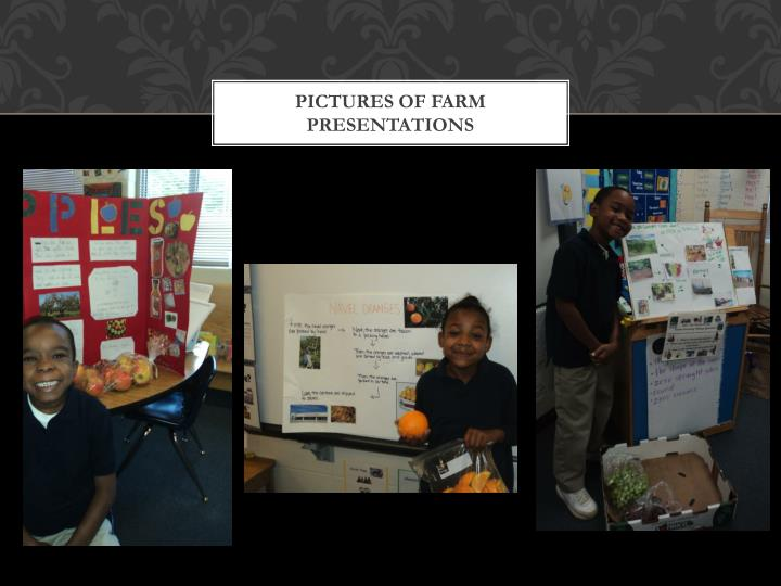 Pictures of farm presentations