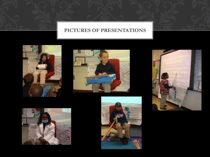 Pictures of presentations