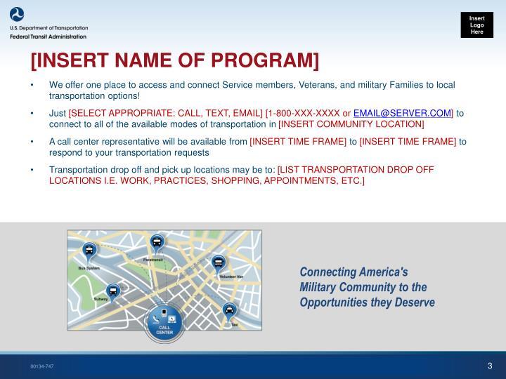 Insert name of program