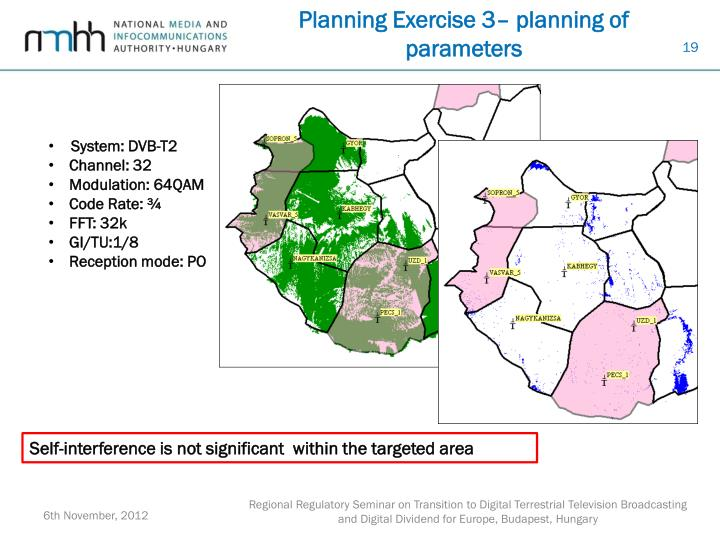 Planning Exercise 3– planning of parameters