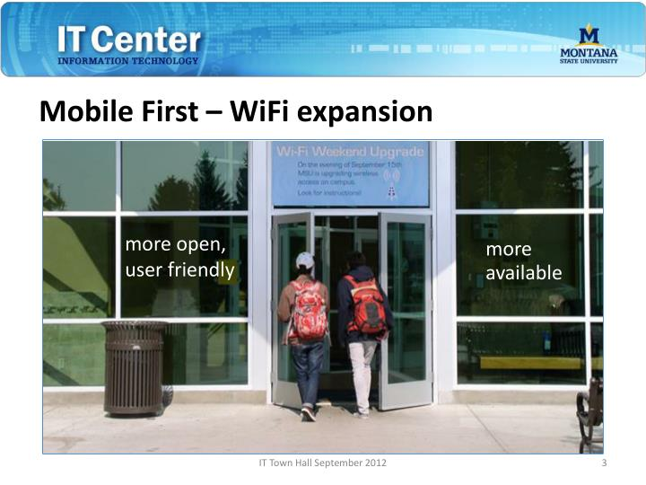 Mobile first wifi expansion
