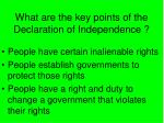 what are the key points of the declaration of independence