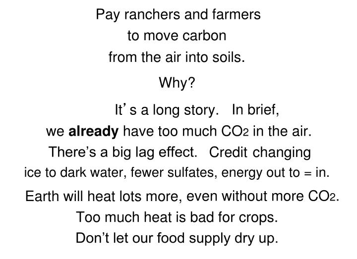 Pay ranchers and farmers
